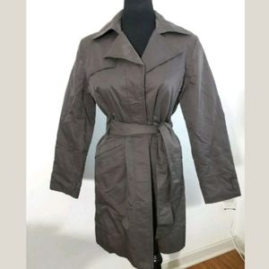 New York and Company Brown Trench Raincoat
